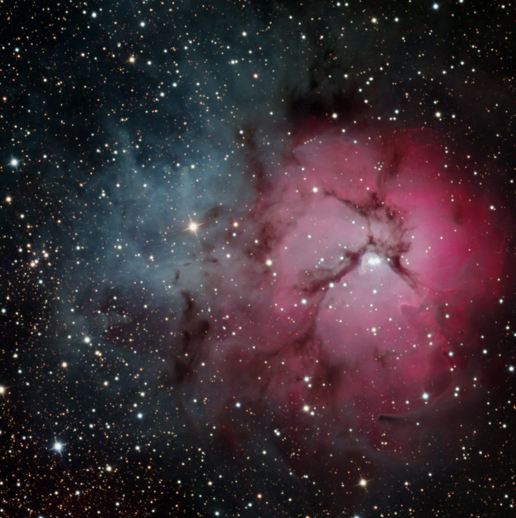 The Trifid Nebula - Click on this image for a larger version of the image