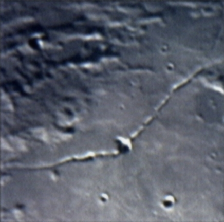 The moon - move cursor and hold it over surface features to identify them