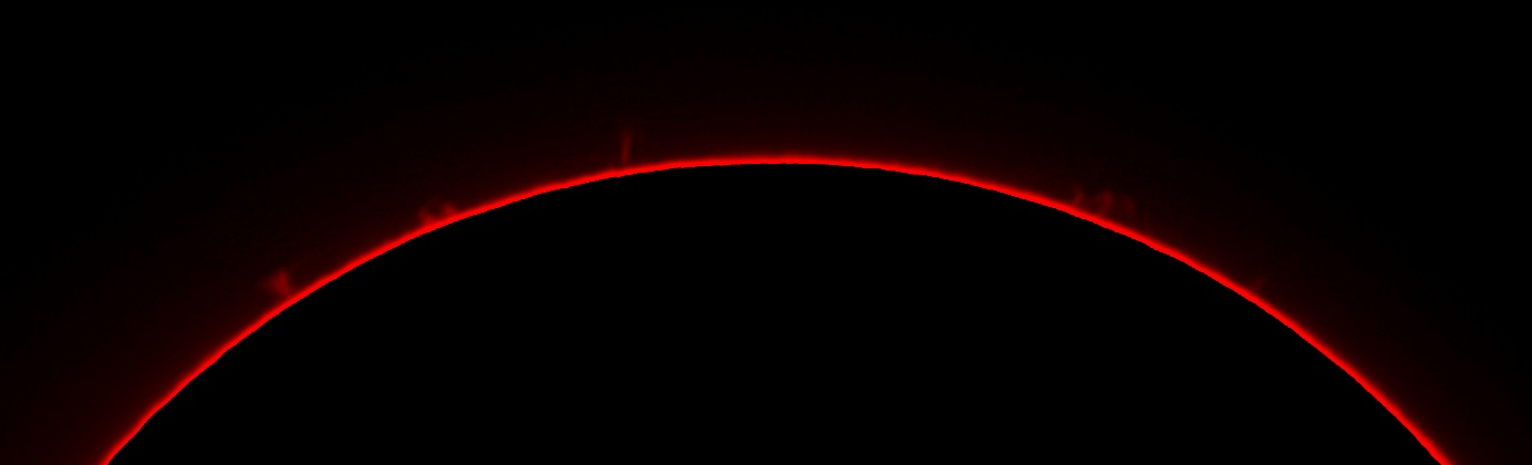 Solar Prominence via a H-alpha filter
