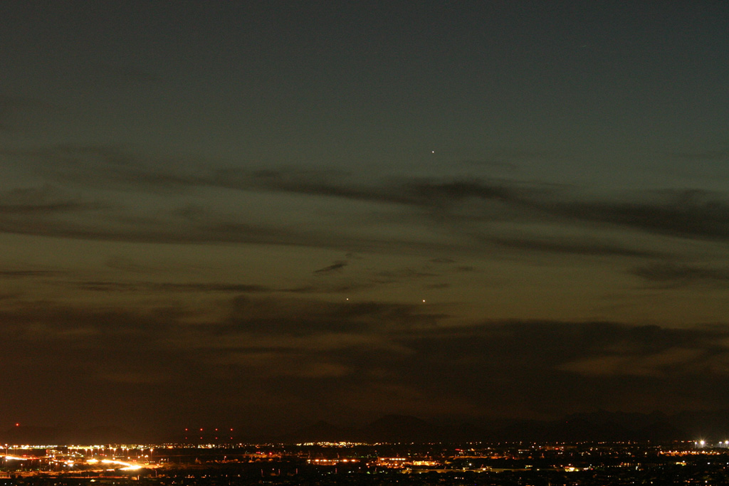 Venus and Jupiter shortly after sunset